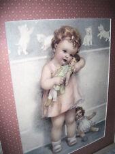 Antique Framed Print Love is Blind by Bessie Pease Gutmann