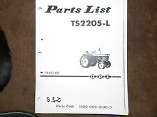 Iseki TS2205 tractor parts manual