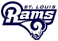 """2 Saint Louis Rams Cornhole Decals LARGE 16.5x11.5"""" Bean Bag Toss Baggo Stickers"""