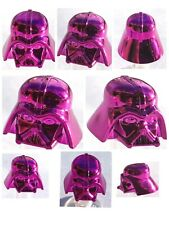 LEGO DARTH VADER HELMET CHROME DARK PINK GENUINE CUSTOM BEST QUALITY MONOCHROME
