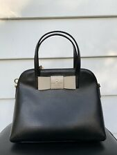 Kate Spade Maise Matthews Street Bow Crossbody Satchel Bag Black $328 NWOT
