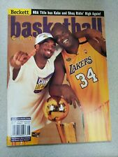Beckett Basketball Price Guide- Kobe And Shaq Lakers August 2000