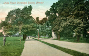 1910 postcard Stoke Road Durdham Downs BRISTOL