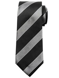 NWT Banana Republic New $59.50 Men University Stripe Silk Nanotex Tie