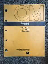 John Deere 790D Excavator Owner Operator Maintenance Manual OMTH108196