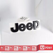 Matte Black JEEP Metal Sticker Rear Badge Emblem Decal Wrangler Cherokee Compass