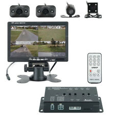 """360 Degree Panoramic View System Dashcam DVR Recorder 4 Cameras + 7"""" LCD Monitor"""