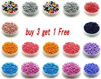 Free Shipping 1000pcs 2/3mm Round Czech Seed Spacer Beads Jewelry Making