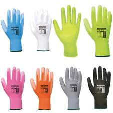 12 X Portwest A120 PU Palm Coated Work Gardening Garage Safety Gloves Breathable