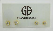 GIANI BERNINI Gold tone  2-Pc. Cubic Zirconia Stud Earrings Set Msrp $60