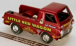 Johnny Lightning Dodge A100 Wheelstander Pickup Little Red Wagon 1/64 Scale