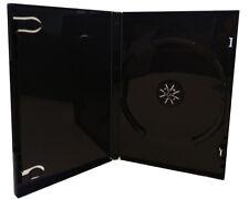 100 DVD Hüllen schwarz Leer-Hüllen Single für 1 Disc CD/DVD 190 x 135 x 14 mm