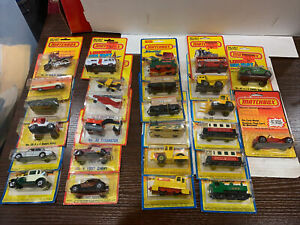 Lot of 26 Vintage Matchbox die Cast Cars Superfast & More 1970s