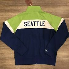 Mitchell & Ness Seattle Sounders Zipup Jacket Sz Medium Supreme Supersonics