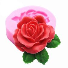 Big Rose Flower Silicone Fondant Cake Chocolate Soap Baking Sugarcraft Mold Tool