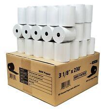 (55 Gsm) 3 1 8 X 230 Thermal Paper 50 Rolls Hypercom T77-T, T77Th Bpa Free