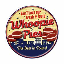 Vintage Style Metal Sign Retro Kitchen Pub Whoopie Pies 14 x 14