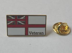 Royal Navy White Ensign Veteran pin badge - lapel badge HM Forces Veteran badge