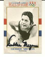 Debbie Meyer Signed Autographed 1991 Impel Card US Olympics Swimming