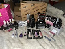 Pre-owned Sensationail Gel Nail Kit & Led Lamp,Remover Kit,7 Gel Polish + More!