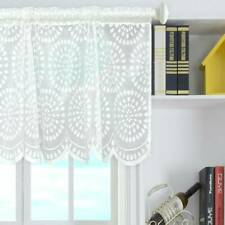 White Tier Curtains Semi Sheer Short Curtains Kitchen Casual Weave Curtains W
