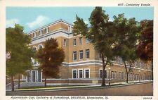 Bloomington Illinois 1930s Postcard Consistory Temple