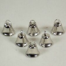 6 pc 14 mm Nickel Plated Liberty Bells for Bird Toys Ornaments Weddings Showers