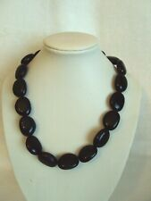 """WOW!  18"""" RALPH LAUREN CHAPS SILVER TONE AND BLACK BEADED NECKLACE #JM"""