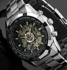 Luxury Men Mechanical Automatic Stainless Steel Skeleton Waterproof Wrist Watch