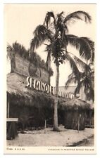 Entrance to Seminole Indian Village, 1933 Chicago World's Fair Postcard *5N(2)34
