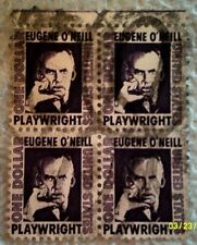 1967 Scott 1294 U. S. Eugene O'Neill, Author four used $1 stamps off paper