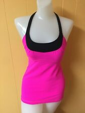 LULULEMON Tank Top Women's Size 4 Color Hot Pink/Black NEW