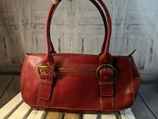 Nine west purse handbag bag tote shoulder casual red satchel