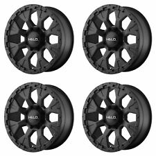 "4x Helo 18x9 HE878 Wheels Satin Black 6x5.5 6x139.7 PCD -12mm Offset 4.53""BS"