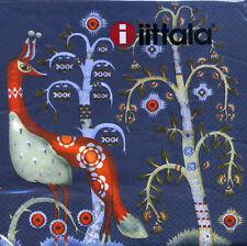 IITTALA FINLAND Taika Blue Serviette Napkins 33 x 33 cm