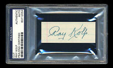 RAY KOLP SIGNED CUT MINT PSA/DNA SLABBED AUTOGRAPHED MINT ST. LOUIS BROWNS