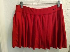 Nike Fitdry Pleated Tennis Athletic Skort 289605 RED Size Medium GREAT CONDITION