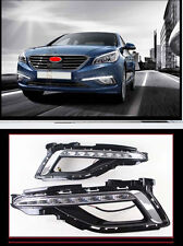 Front Fog LED DRL Running Daytime Driving for 2015-2017 Hyundai Sonata (LF) MK9