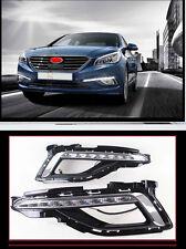 Front Fog LED DRL Running Daytime Driving for 2015-2017 Hyundai Sonata (LF) MK9