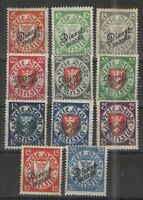 Germany - Danzig 1924-25 Sc# O42-52 MH VG/F - Valuable Officials set Scv$ 179.99