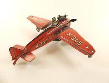 DRGM Foreign Huki avion K345 en tôle moteur à clé ancien 13 cm
