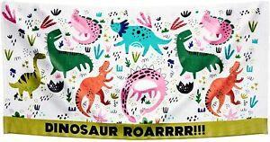 Children's Dinosaur Dino Roar Holiday Swimming Pool Cotton Beach Bath Towel