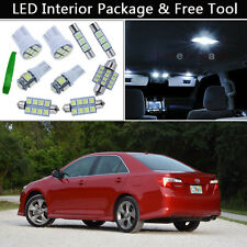 12PCS White LED Interior Car Lights Package kit Fit 2012-2014 Toyota Camry J1
