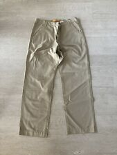 TIMBERLAND Beige Cotton Chinos Trousers W36 L34 Long Tall Stratham Twill Safari