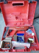 Hilti Dx E72 Powder Actuated Nailer Nail Gun w/Case