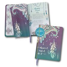 Dream It Wish It Mandala Feather 100 blank pge Journal w/ Rose Gold Lisa Pollock