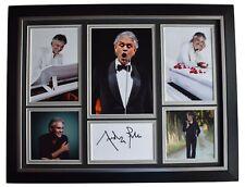 Andrea Bocelli Signed Autograph 16x12 framed photo display Music Opera COA