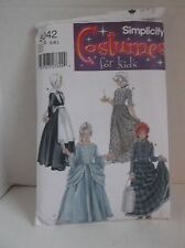 Simplicity costumes for kids sz S-L Puritan, Centennial and 18th & 19th century