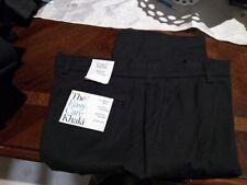 "Mens Croft & Barrow ""The Easy Care Khaki""!  Jet Black!  Size 36x32!  NWT!"