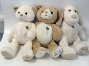 Bundle x3 Harrods 'My First' Bear Kitten + Puppy Cuddly Toys Used Collectible